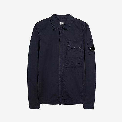 C.P. Company Garbadine Zip Overshirt with Arm Lens - Total Eclipse Navy