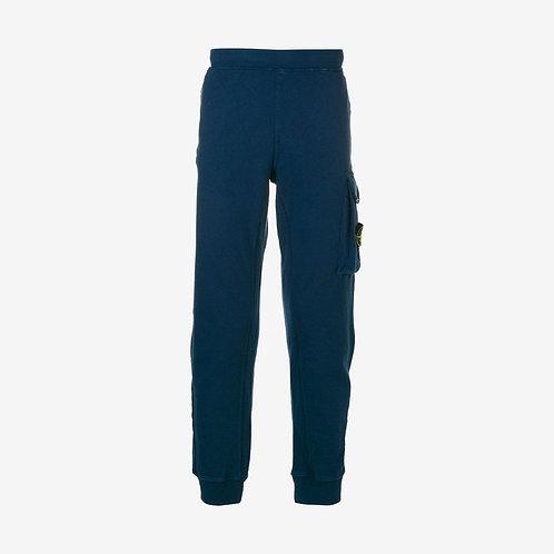 Stone Island Cargo Pocket Sweat Pants - Blue