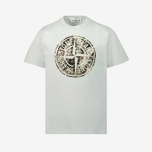 Stone Island Junior Compass T-Shirt - Grey