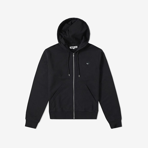 MCQ Swallow Classic Hoodie with White Logo- Black