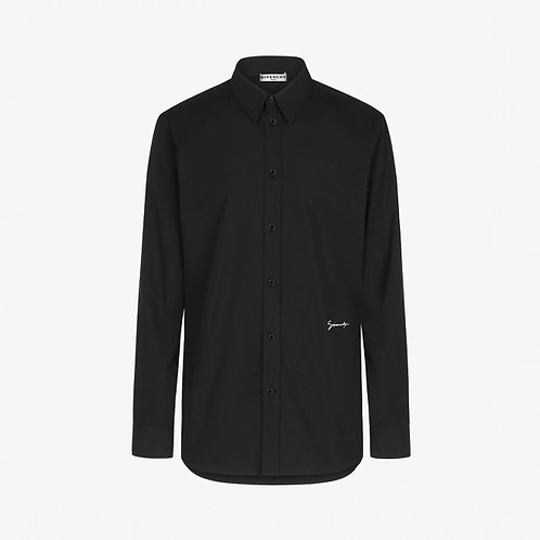 Givenchy Embroidered Logo Shirt - Black