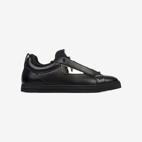 Fendi Metal Eyes Sneakers Black Leather