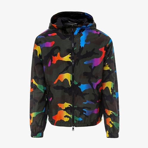 Valentino Camouflage Print Windbreaker Jacket - Rainbow