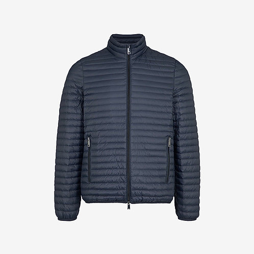 Emporio Armani Quilted Shell Down Jacket Navy Zip