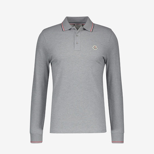 Moncler Long Sleeve Polo Shirt - Grey
