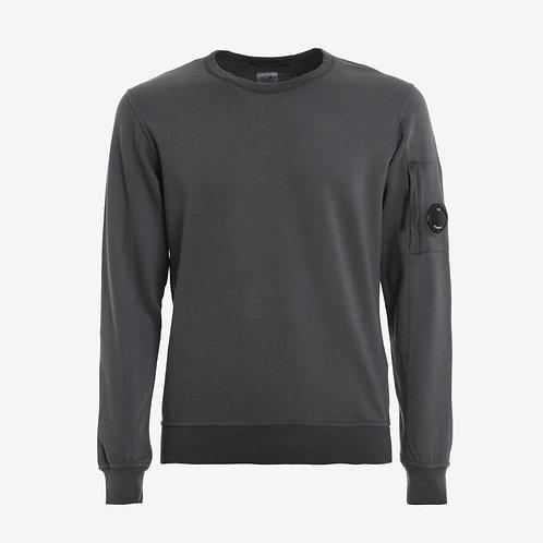 C.P. Company Garment Dyed Light Fleece Lens Sweatshirt - Beech Grey
