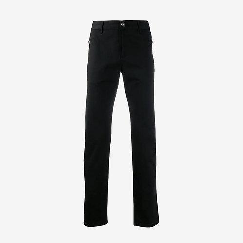 Balmain Logo Straight-Leg Trousers - Black