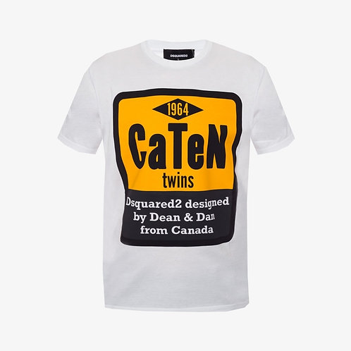 Dsquared2 Caten Twins Print T-Shirt - White