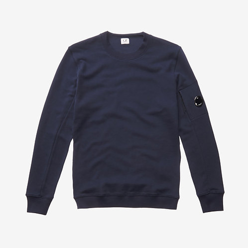 C.P. Company Diagonal Fleece Lens Sweatshirt - Total Eclipse Navy