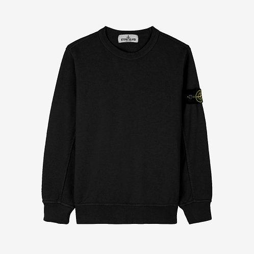 Stone Island Junior Crew Sweatshirt - Black