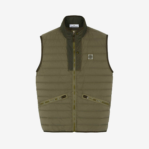 Stone Island Logo Embroidered Padded Gilet Olive Green