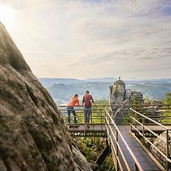 Saxon Switzerland: Hiking in the Elbsanstein Mountains ©DZT (Jens Wegener)