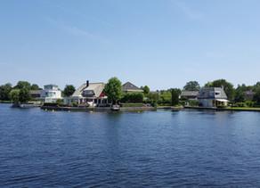 VR 360 video - Holandsko na lodi,  jezero Vinkeveense Plassen