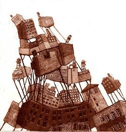 Heap, etching, 2009