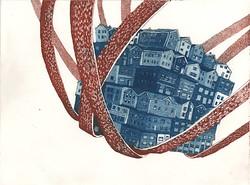 Cradled, etching, 2013
