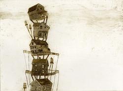 Watchtower, etching, 2010