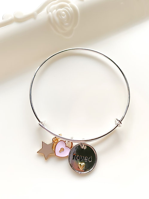 You are Loved Charm Bracelet