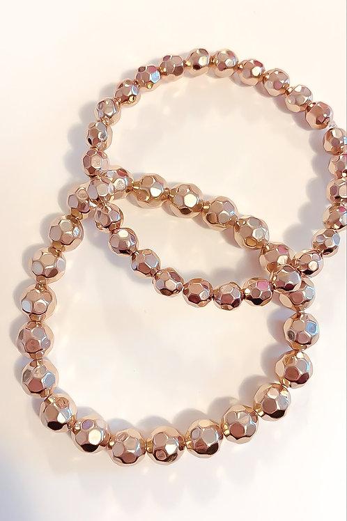 Edged Layering Bracelet Set