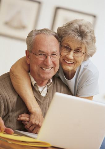 Feliz pareja de ancianos.