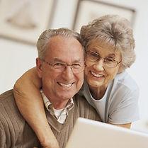 Счастливый Пожилая пара.