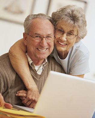 Glückliche ältere Paare.