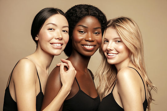 Beauty. Multi Ethnic Group of Womans wit