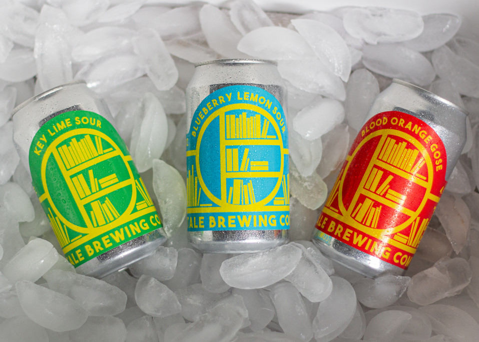 """Sour and Gose Trio, Adobe Illustrator and Photoshop, 7.1 x 3.51""""  in 2020"""