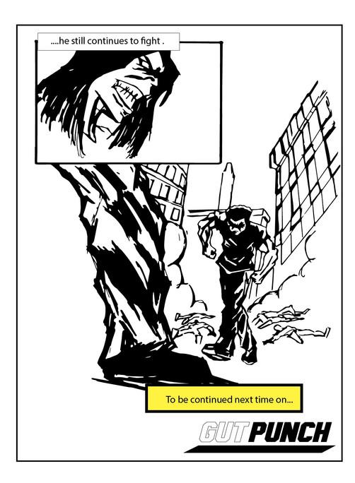 Gut Punch Comic Strip Pg. 3 – 11 X 17 (2021)