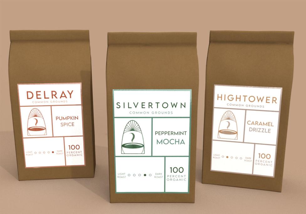 Common Grounds Coffee Line, Adobe Creative Suite, 2021