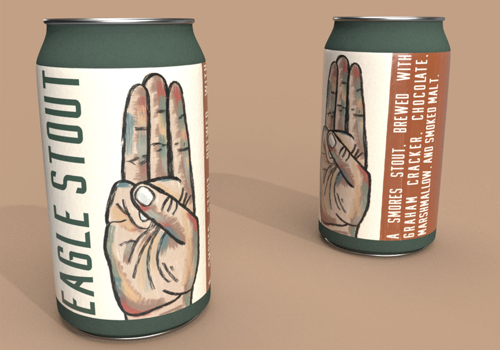 Eagle Stout Craft Beer: Common Grounds House Brew, Adobe Creative Suite, 2021