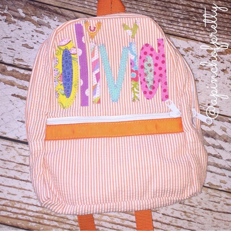 Seersucker Backpack  4eb8c88138fd6