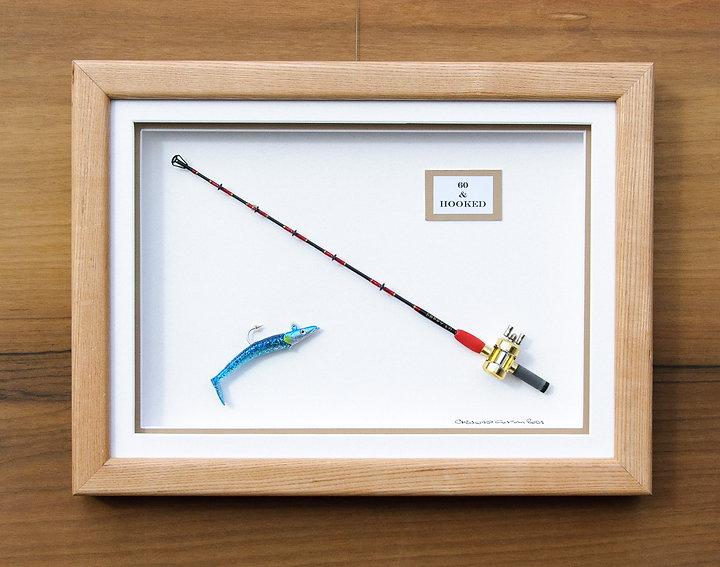 framed boat rod gift