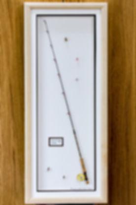framed salmon fly rod gift