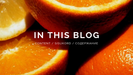 Content / Sisukord / Содержание