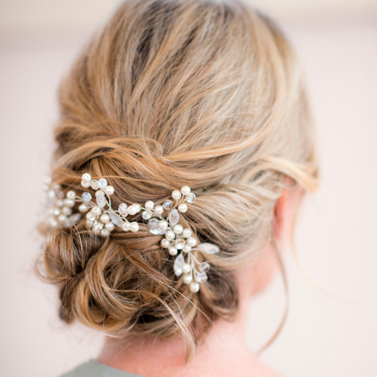 Bridal hair low texture bun