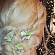 Bridal hair rope braids with low bun