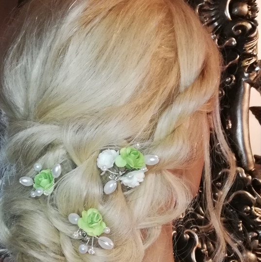 Bridal hair rope braids with low bun