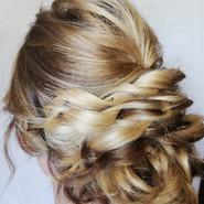 Bridesmaid hair twisted rope braids