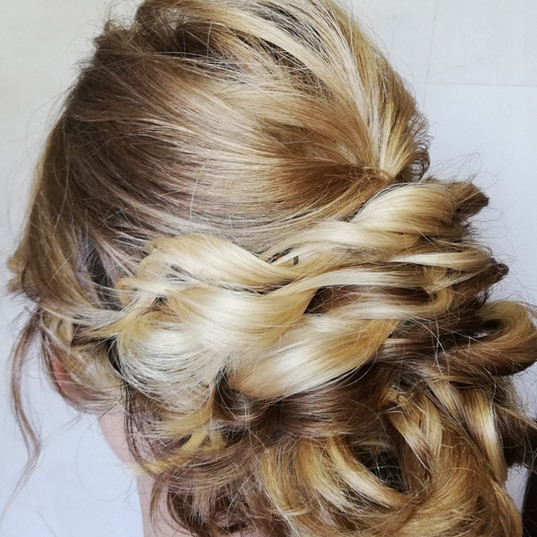 Bridesmaid hair twisted rope braids