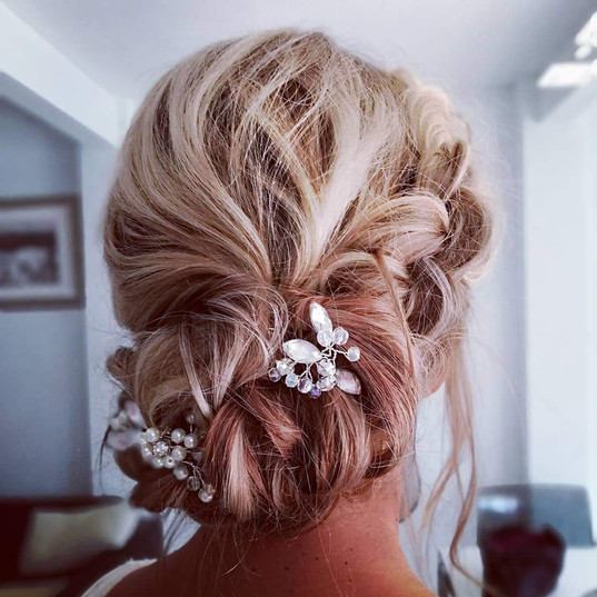Bridal hair side braid