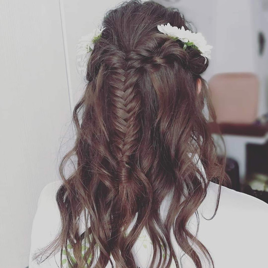 Bridal hair mermaid braid