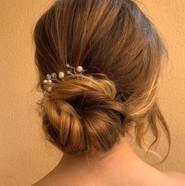 Bridal hair simple knotted bun