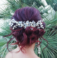 Bridal hair updo with comb