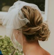 Bridal hair low updo