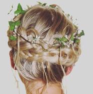Bridal hair crown braid