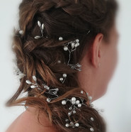 Bridal hair mermaid braid and hair vine