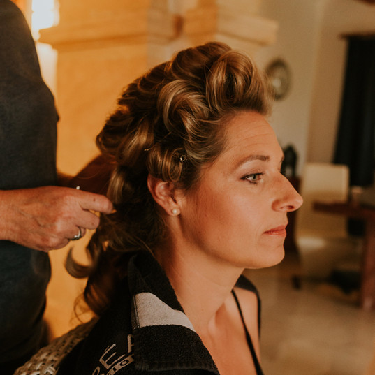 Bridal hair preparation