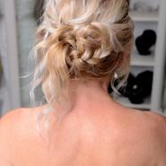 Bridal hair detailed braids