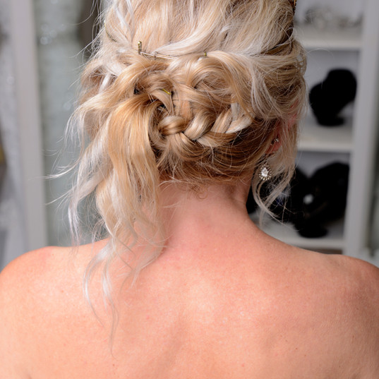 Bridal hair detailed braids