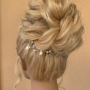 Bridal hair high bun
